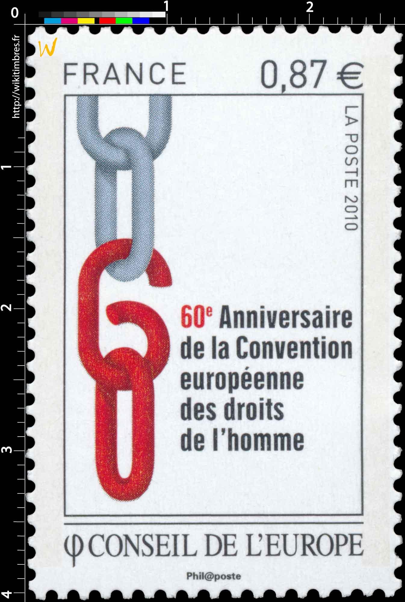 2010 Conseil de l'Europe - 60e Anniversaire de la Convention européenne des droits de l'homme