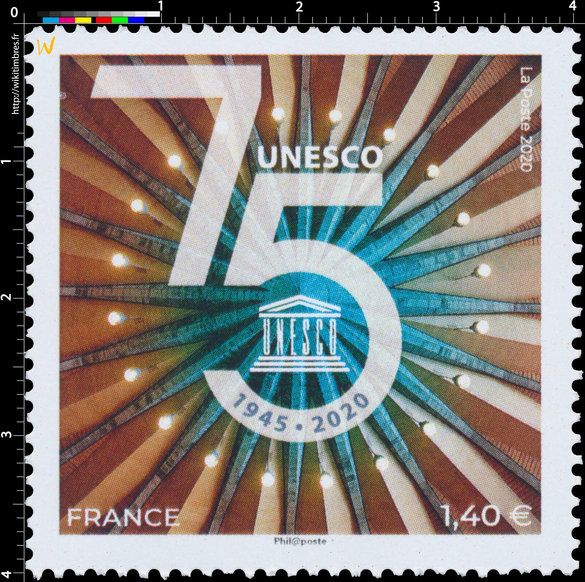 1945 – 2020 75e anniversaire de l'UNESCO