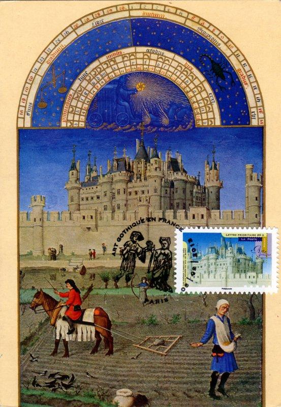 timbre 2013 art gothique les fr res limbourg les tr s riches heures du duc de berry. Black Bedroom Furniture Sets. Home Design Ideas