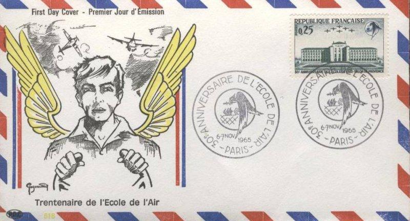 Timbre 1965 30e anniversaire de l 39 cole de l 39 air salon de provence wikitimbres - Ecole de l air de salon de provence ...