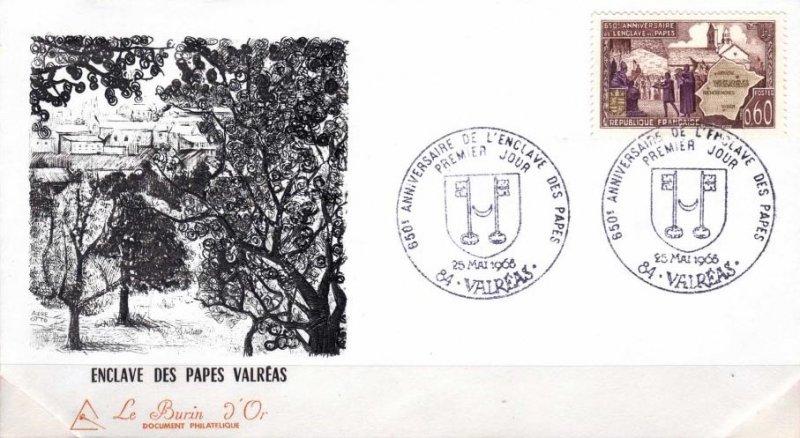 Stamp Timbre France Oblitere N° 1562 Enclave Papale De Valreas France: Oblitérés