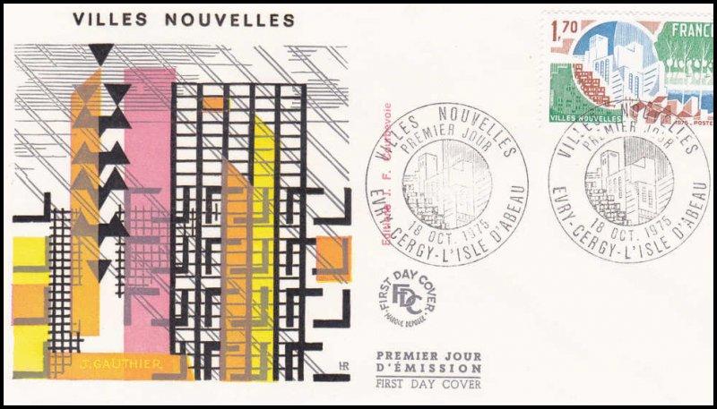Timbre France Villes Nouvelles