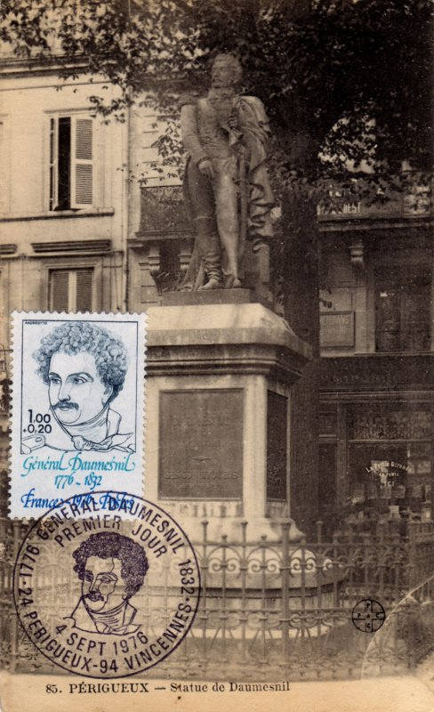 Timbre 1976 g n ral daumesnil 1776 1832 wikitimbres - La poste daumesnil ...