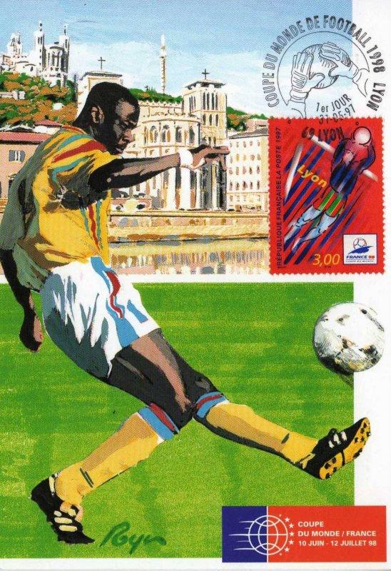 Timbre 1997 france 98 coupe du monde lyon wikitimbres - Joueur coupe du monde 98 ...