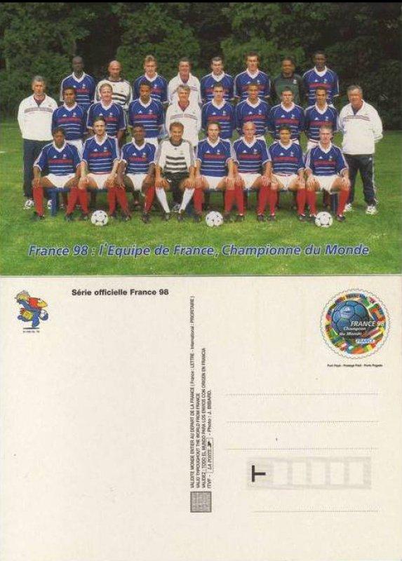 Timbre france 98 coupe du monde champion du monde france wikitimbres - France 98 coupe du monde ...