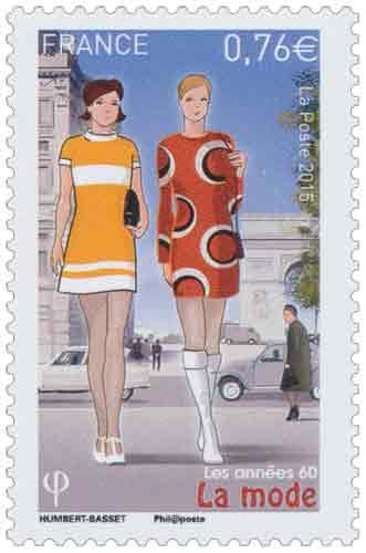 c8b283a0b2b89d Timbre : 2015 Les années 60 La mode | WikiTimbres